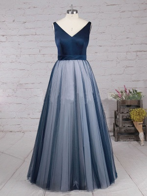 Chic A-Line Prom Dresses | Simple Tulle Evening Dresses_4
