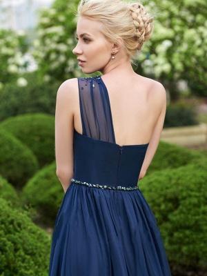 Fashion One-Shoulder A-Line Bridesmaid Dresses | Sleeveless Beaded Chiffon Wedding Party Dresses_3