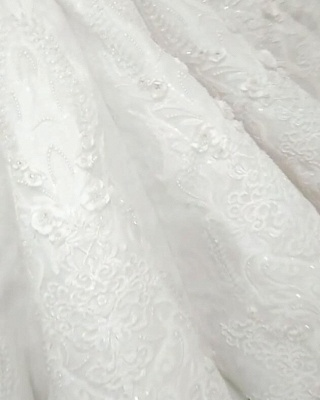 New In Crystals Mermaid Wedding Dresses | Capped Sleeves Open Back Bridal Gowns BC0502_4