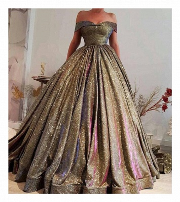 Luxury Ball Gown Prom Dresses | Off The Shoulder Sequins Evening Dresses_2