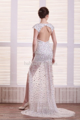 Special Design Sexy Prom Dresses Online Wholesale V-Neck Beaded Rhinestone Gowns For Sale BO0708_4