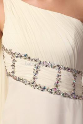 Wholesale Evening Dresses One Shoulder Sequins Chiffon Dress On Line BO0675_2