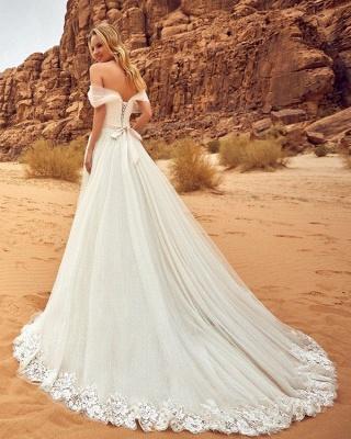 Summer Tulle A-line Wedding Dresses | Off-the-Shoulder Bridal Gowns_3