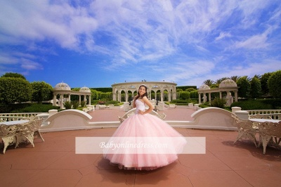 Strapless Appliques Ball-Gown Glorious Beaded Quinceanera Dresses_3