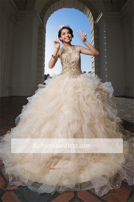 Fascinating Jewel Ball-Gown Appliques Sweet 16 Dresses_3