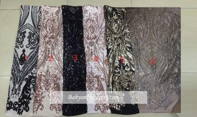 Elegant V-Neck Long-Sleeves Prom Dresses | Sequins Tulle Mermaid Evening Gowns_2