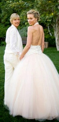 Sexy Halter Tulle Beach Wedding Dress Backless Bridal Gown_3