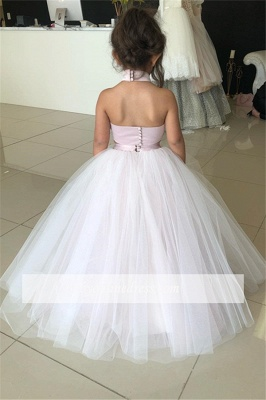 Pink Sweetheart Lovely Two-Pieces Flower Tulle Appliques Girl Dresses_3