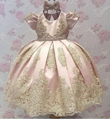 Cute Ball Gown Flower Girl Dresses With Bows | Girl's First Communication Dresses_3