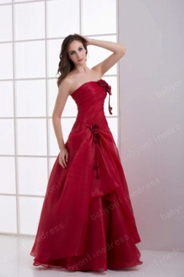 Wholesale Luxury Crimson Strapless Sequined Flowers Layered Quinceanera Dresses On Sale DH4250_3