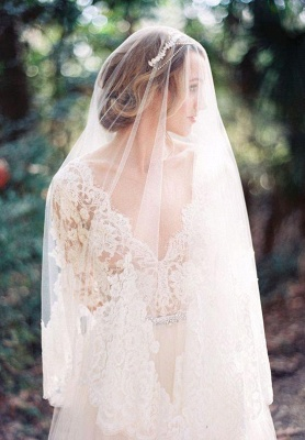 2021 A-line Wedding Dresses V Neck Lace Half Long Sleeves Maternity Bridal Gowns_6