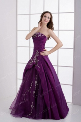 2021 Wholesale Inexpensive Elegant Quinceanera Dresses Strapless Embroidery A-Line Dresses DH4253_3