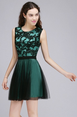 Chic Short A-Line Homecoming Dresses | Scoop Sleeveless Lace Appliques Short Cocktail Dresses BM0132_5