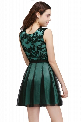 Chic Short A-Line Homecoming Dresses | Scoop Sleeveless Lace Appliques Short Cocktail Dresses BM0132_7