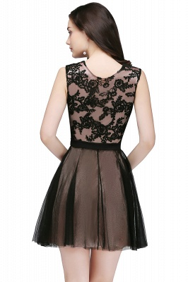 Chic Short A-Line Homecoming Dresses | Scoop Sleeveless Lace Appliques Short Cocktail Dresses BM0132_4