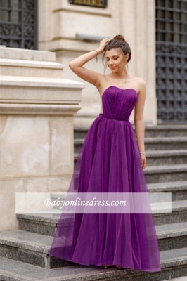 A-line Formal Backless Sweetheart Floor-length Charming Ruffles Evening Dress_8