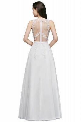 Elegant A-Line Tulle Prom Dresses | Scoop Sleeveless Lace Appliques Evening Dresses BM0133_3