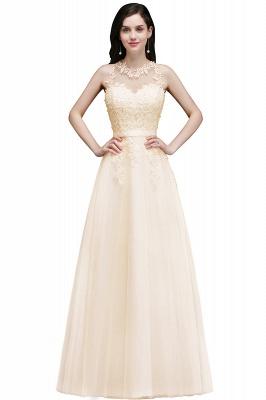 Elegant A-Line Tulle Prom Dresses | Scoop Sleeveless Lace Appliques Evening Dresses BM0133_7