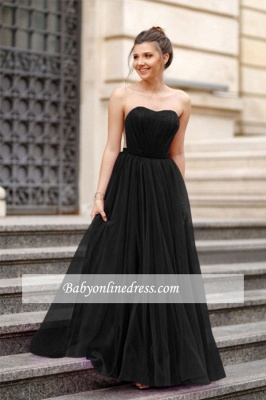 A-line Formal Backless Sweetheart Floor-length Charming Ruffles Evening Dress_7