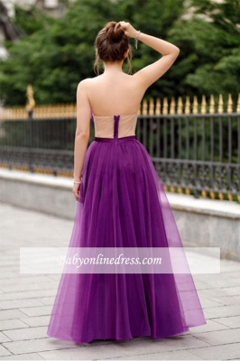 A-line Formal Backless Sweetheart Floor-length Charming Ruffles Evening Dress_5