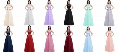 Elegant A-Line Tulle Prom Dresses | Scoop Sleeveless Lace Appliques Evening Dresses BM0133_4