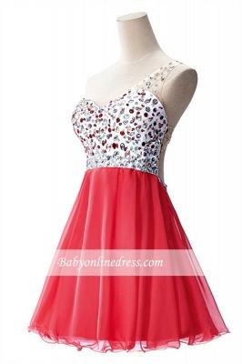 Open-Back One-Shoulder Glamorous Short A-Line Crystal Homecoming Dresses_4