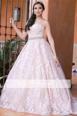 Strapless A-line Beadings Appliques Glorious Quinceanera Dresses_5