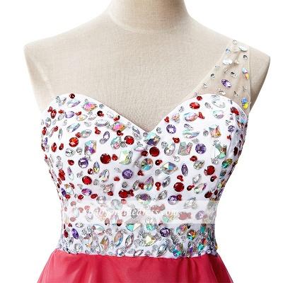 Open-Back One-Shoulder Glamorous Short A-Line Crystal Homecoming Dresses_6