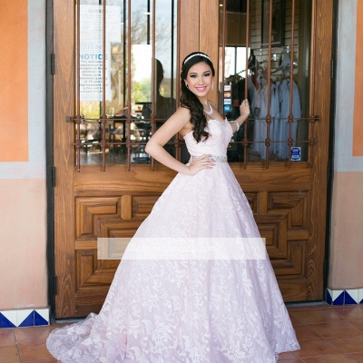 Strapless A-line Beadings Appliques Glorious Quinceanera Dresses_4