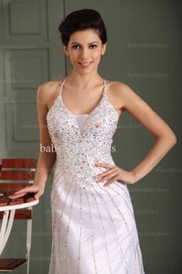 2021 Wholesale Prom Dresses V Neck Sequin Floor Length Chiffon Evening Dress With Spaghetti Strap BO0486_1