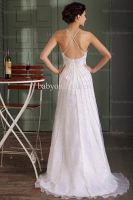 2021 Wholesale Prom Dresses V Neck Sequin Floor Length Chiffon Evening Dress With Spaghetti Strap BO0486_3