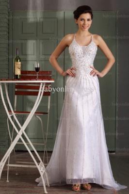 2021 Wholesale Prom Dresses V Neck Sequin Floor Length Chiffon Evening Dress With Spaghetti Strap BO0486_2