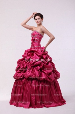 Discounted Glitz Dresses For Quinceanera 2021 Wholesale Sweetheart Beaded Flowers Gowns BO0859_5