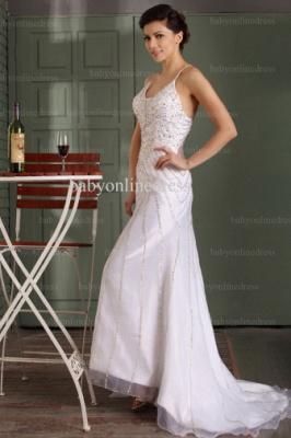 2021 Wholesale Prom Dresses V Neck Sequin Floor Length Chiffon Evening Dress With Spaghetti Strap BO0486_5
