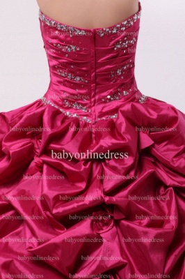 Discounted Glitz Dresses For Quinceanera 2021 Wholesale Sweetheart Beaded Flowers Gowns BO0859_3