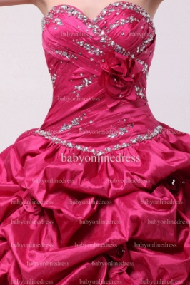 Discounted Glitz Dresses For Quinceanera 2021 Wholesale Sweetheart Beaded Flowers Gowns BO0859_2