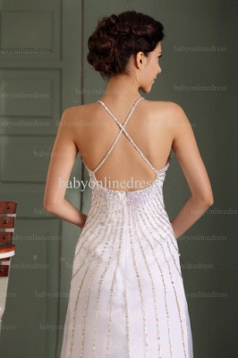 2021 Wholesale Prom Dresses V Neck Sequin Floor Length Chiffon Evening Dress With Spaghetti Strap BO0486_4
