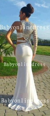 Special Design Dresses For Proms 2021 Wholesale High-Neck Crystal Long Chiffon Evening Party Gowns On Sale BO1127_2