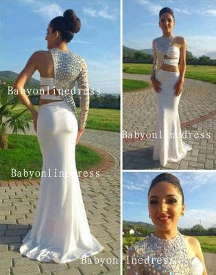 Special Design Dresses For Proms 2021 Wholesale High-Neck Crystal Long Chiffon Evening Party Gowns On Sale BO1127_1