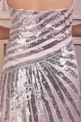 Wholesale Evening Dresses 2021 Sweetheart Sequins Sleeveless Chiffon Dress BO0690_4