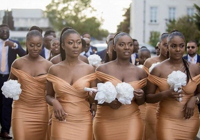 Cheap Mermaid Bridesmaid Dresses | Off-The-Shoulder Long Wedding Party Dresses_3