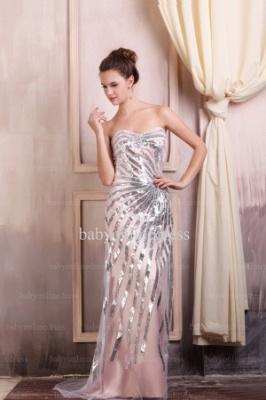 Wholesale Evening Dresses 2021 Sweetheart Sequins Sleeveless Chiffon Dress BO0690_5