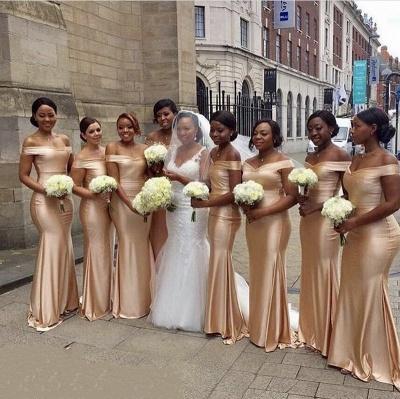 Cheap Mermaid Bridesmaid Dresses | Off-The-Shoulder Long Wedding Party Dresses_2