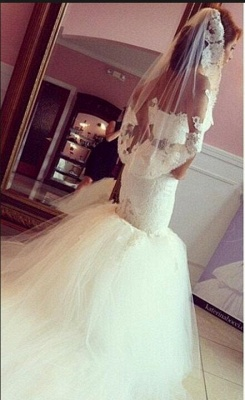 Timeless Sweetheart Lace Appliques Mermaid Wedding Dresses_1