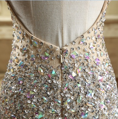 Luxury Crystals Mermaid Prom Dresses | Straps Open Back Evening Gowns_6
