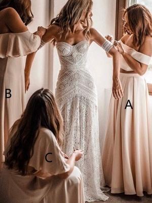 Elegant Long A-Line Bridesmaid Dresses | Off-The-Shoulder Maid Of The Honor Dresses_1