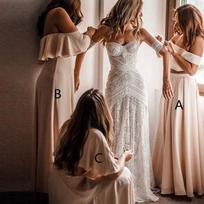 Elegant Long A-Line Bridesmaid Dresses | Off-The-Shoulder Maid Of The Honor Dresses_2
