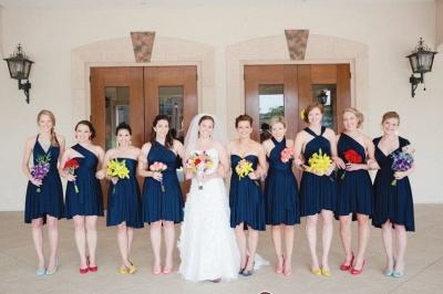 Sweetheart Strapless -cross-straps Halter Deep-V Simple Convertible A-line Backless Cap Criss One-Shoulder Bridesmaid Dr_1