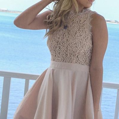 Exquisite A-Line Short Homecoming Dresses | Jewel Sleeveless Lace Graduation Dresses BC0978_3