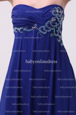 Inexpensive Gorgeous Prom Dresses Loyal Blue Wholesale 2021 Sweetheart Beading Long Chiffon Dresses BO0870_2
